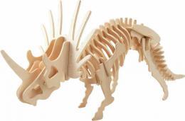 DŘEVO 3D prostorové puzzle dino styracosaurus skládačka *DŘEVĚNÉ HRAČKY* - zvětšit obrázek