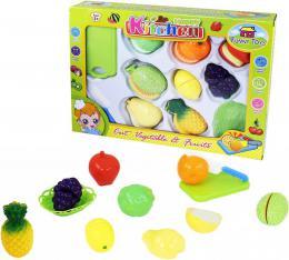 Sada kuchyňská plastová krájecí ovoce na suchý zip s nožíkem a doplňky 11ks - zvětšit obrázek