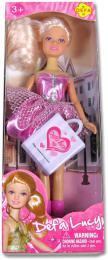 Panenka LUCY elegantní s nákupní taškou 2 barvy - zvětšit obrázek