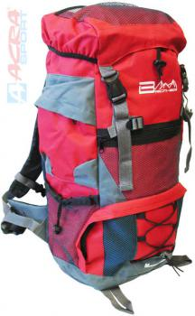 ACRA Batoh turistický 45l červený 2 komory 30x19x52cm Brother BA45 - zvětšit obrázek