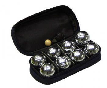 ACRA Petanque mini 8 koulí chromované koule * petangue sada - zvětšit obrázek
