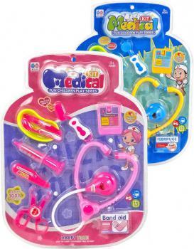Sada doktorská dětské lékařské potřeby na kartě 2 druhy plast - zvětšit obrázek