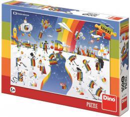 DINO Puzzle 100 dílků XL ČT Déčko ovečky 47x33cm skládačka - zvětšit obrázek