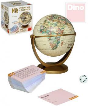 DINO Hra IQ Historický kvíz set s globusem 15cm 440 otázek v krabici - zvětšit obrázek