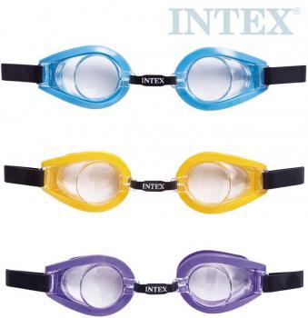 INTEX Plavecké brýle dětské 3-10 let na plavání do vody 3 barvy 55602 - zvětšit obrázek