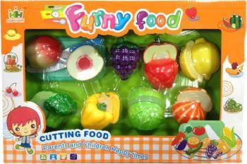 Kuchyňská krájecí sada ovoce a zelenina na suchý zip s nožíkem a doplňky plast - zvětšit obrázek