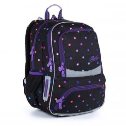 Batoh s puntíky pro starší školačky na prvním stupni Topgal NIKI 21011 G - zvětšit obrázek