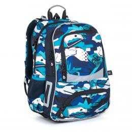 Školní batoh modro bílý v graffiti stylu Topgal NIKI 21022 B - zvětšit obrázek
