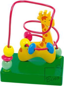 BINO DŘEVO Motorický labyrint Žirafa * DŘEVĚNÉ HRAČKY * - zvětšit obrázek