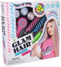 Zdobení vlasů dívčí kreativní set s vlasovými křídami v krabici - zvětšit obrázek