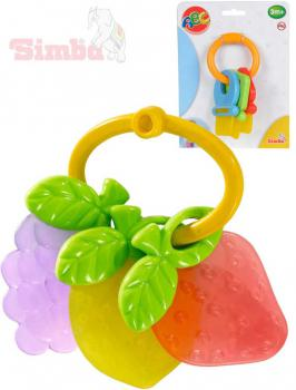 SIMBA Baby kousátko klíče/ovoce plastové 2 druhy pro miminko na kartě - zvětšit obrázek