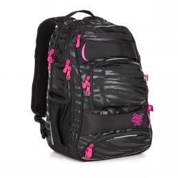 Zebrovaný studentský batoh  Topgal YUMI 18038 G - zvětšit obrázek